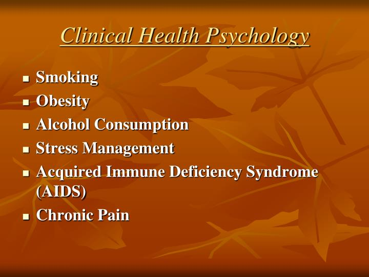 Clinical Health Psychology