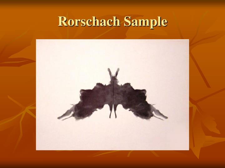 Rorschach Sample