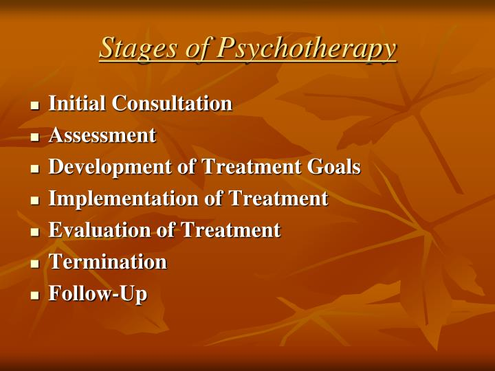 Stages of Psychotherapy