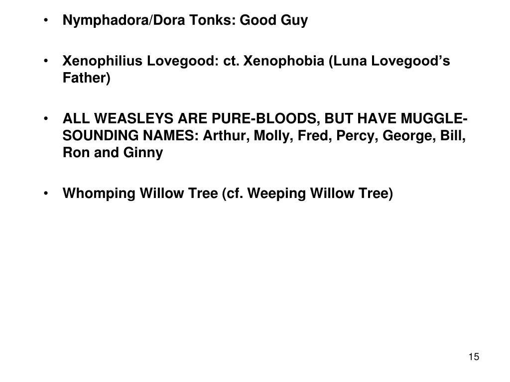 Nymphadora/Dora Tonks: Good Guy