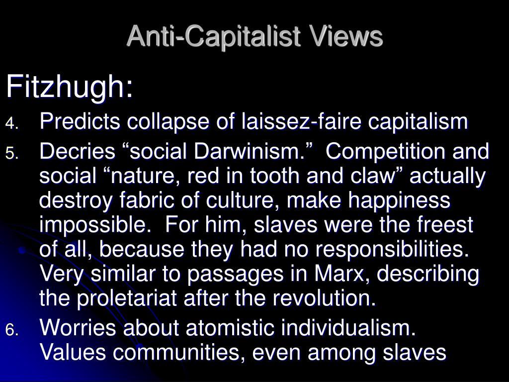 Anti-Capitalist Views
