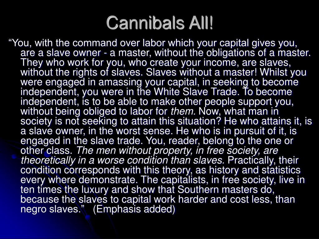Cannibals All!