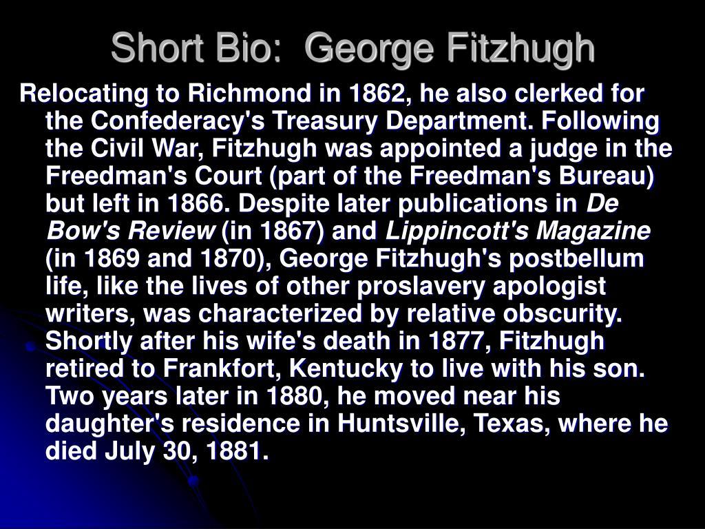 Short Bio:  George Fitzhugh