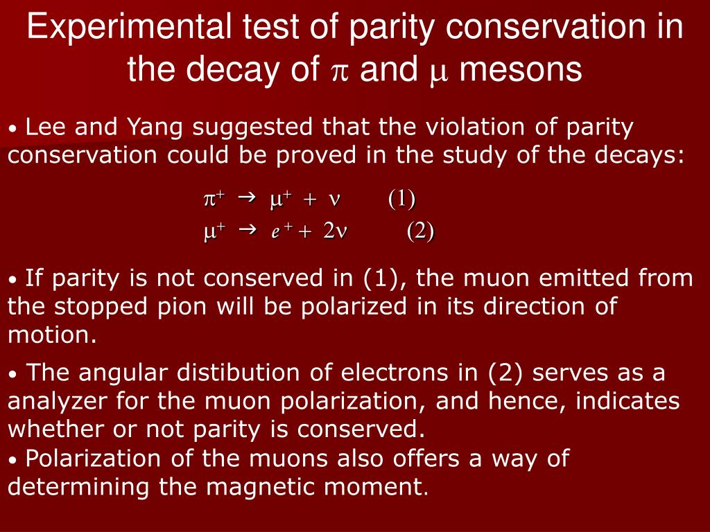 Experimental test of parity conservation in the decay of