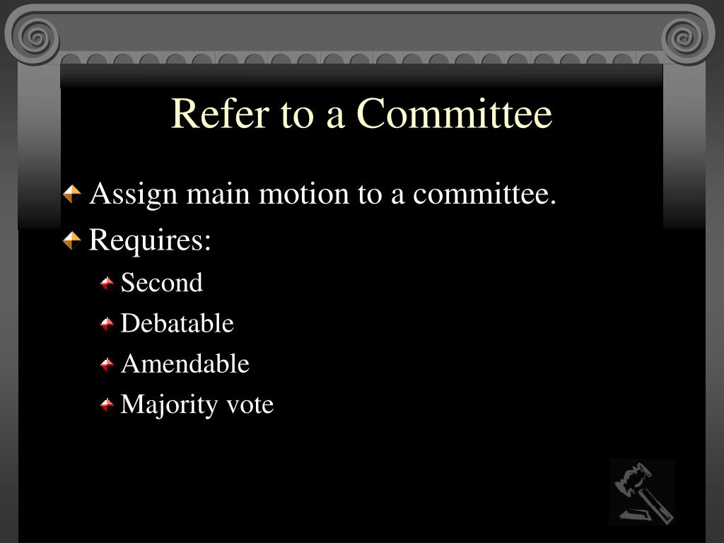 Refer to a Committee