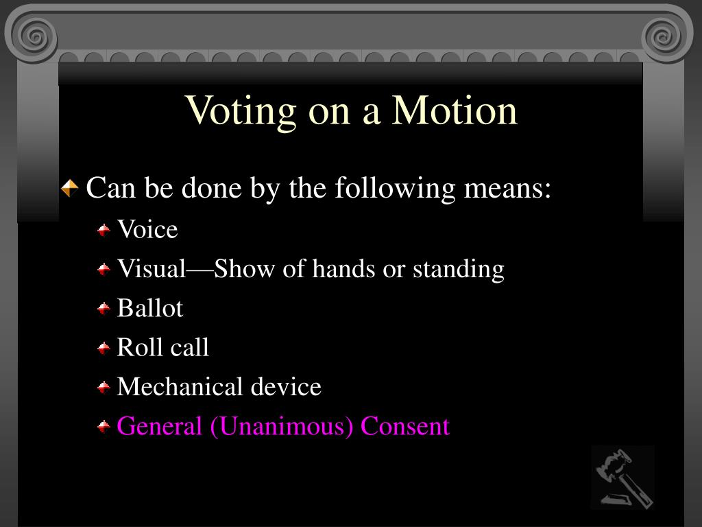 Voting on a Motion