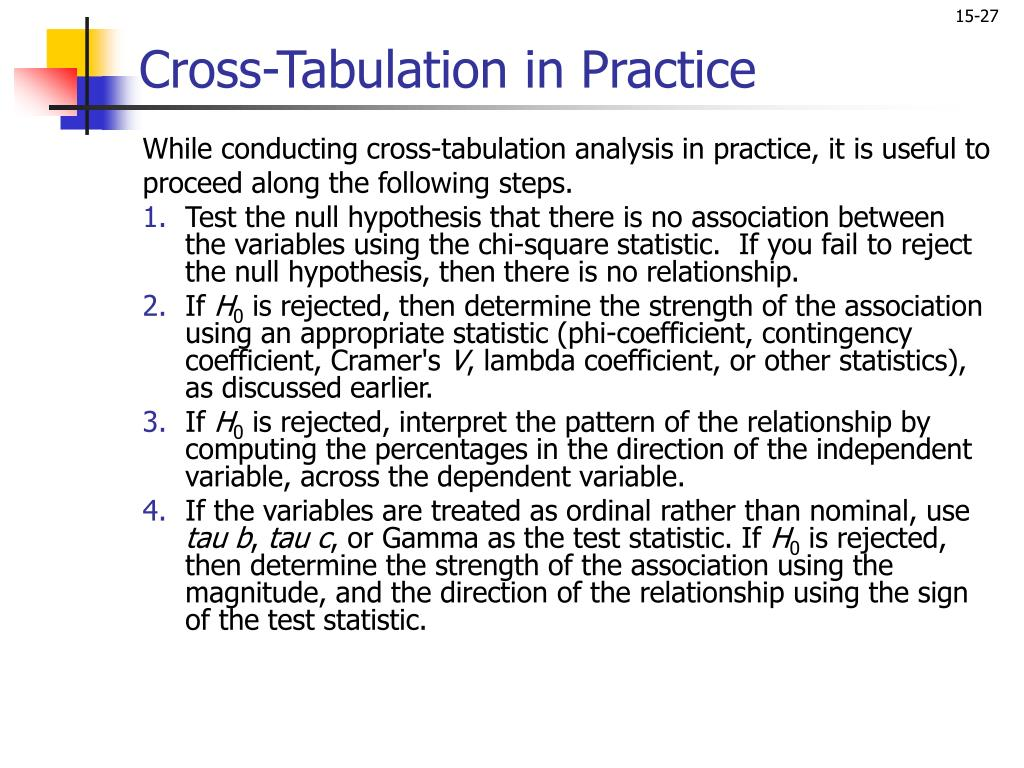 Cross-Tabulation in Practice