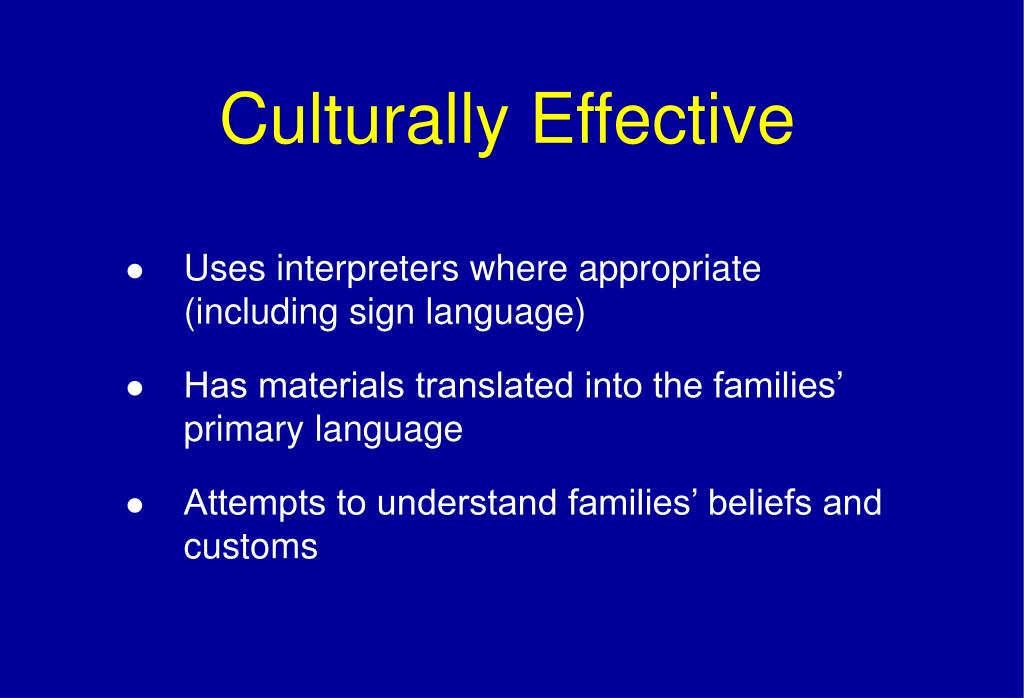 Culturally Effective