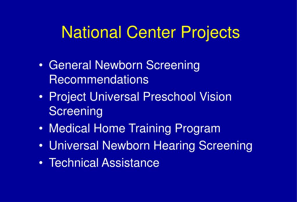 National Center Projects
