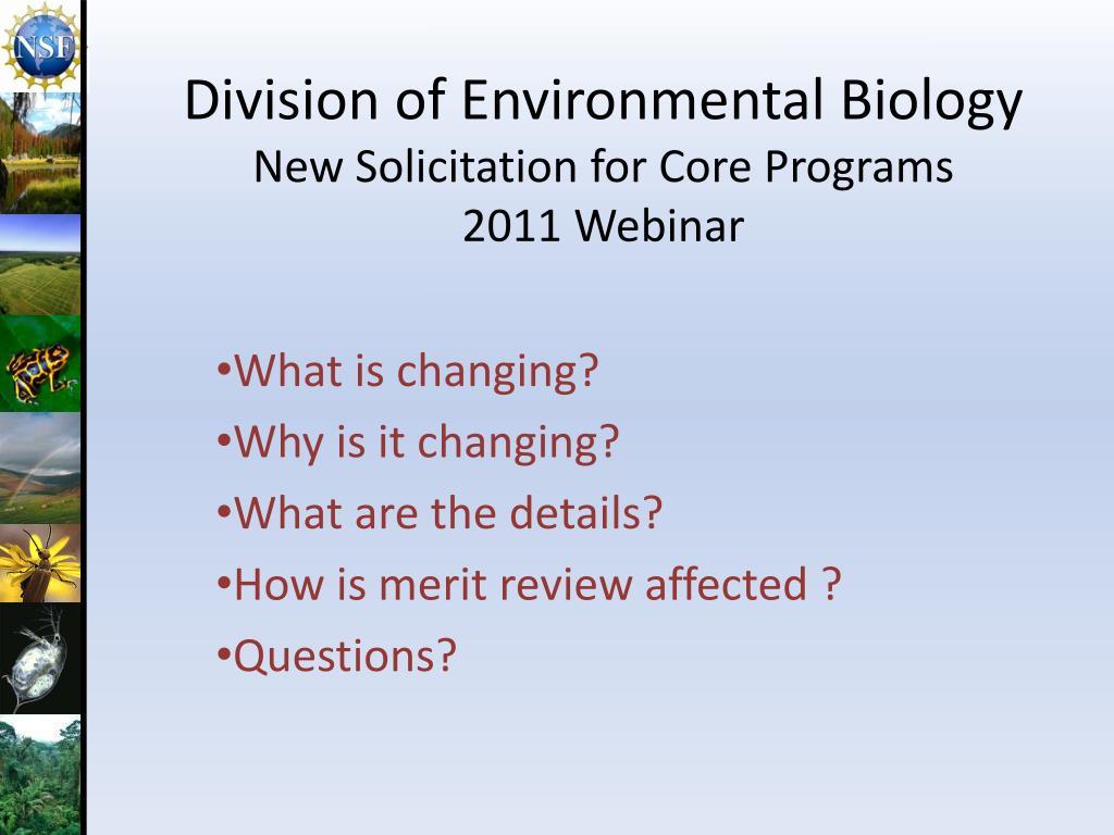 Division of Environmental Biology