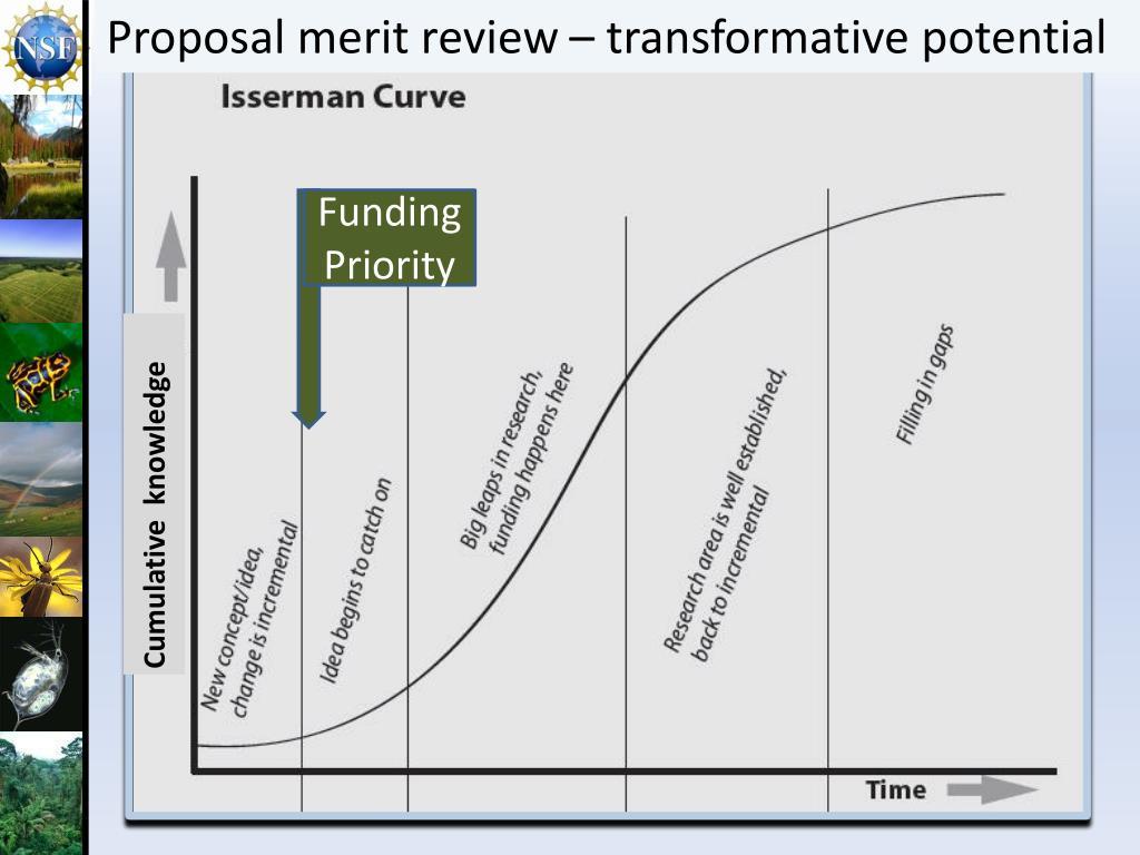 Proposal merit review – transformative potential