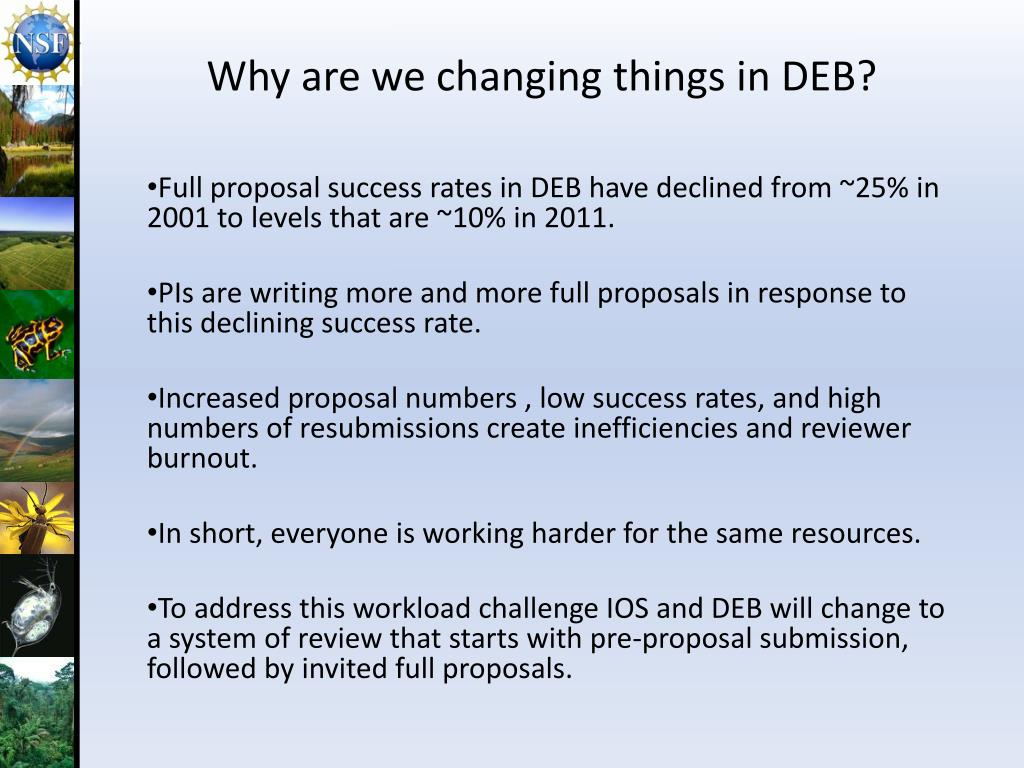 Why are we changing things in DEB?