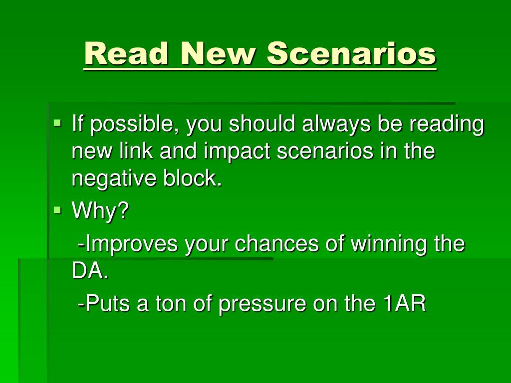 Read New Scenarios