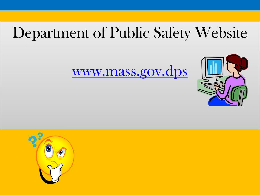 Department of Public Safety Website