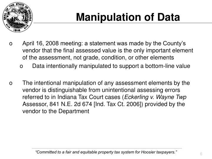 Manipulation of Data