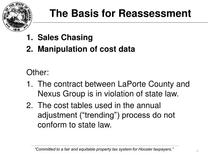 The Basis for Reassessment
