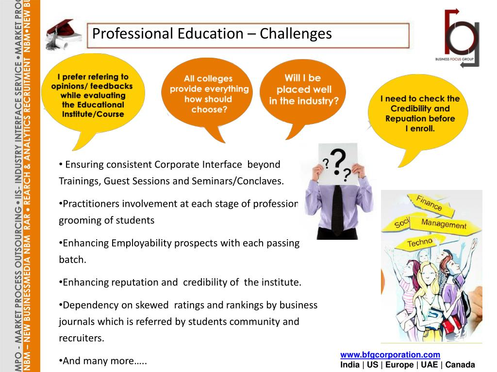 Professional Education – Challenges