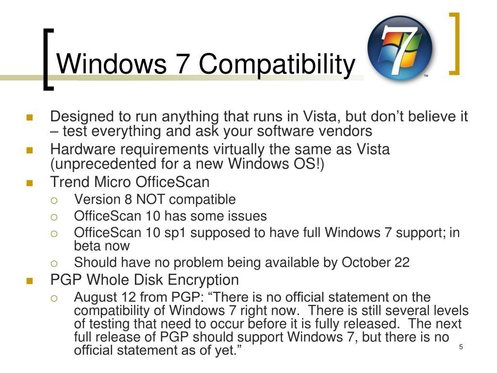 Windows 7 Compatibility