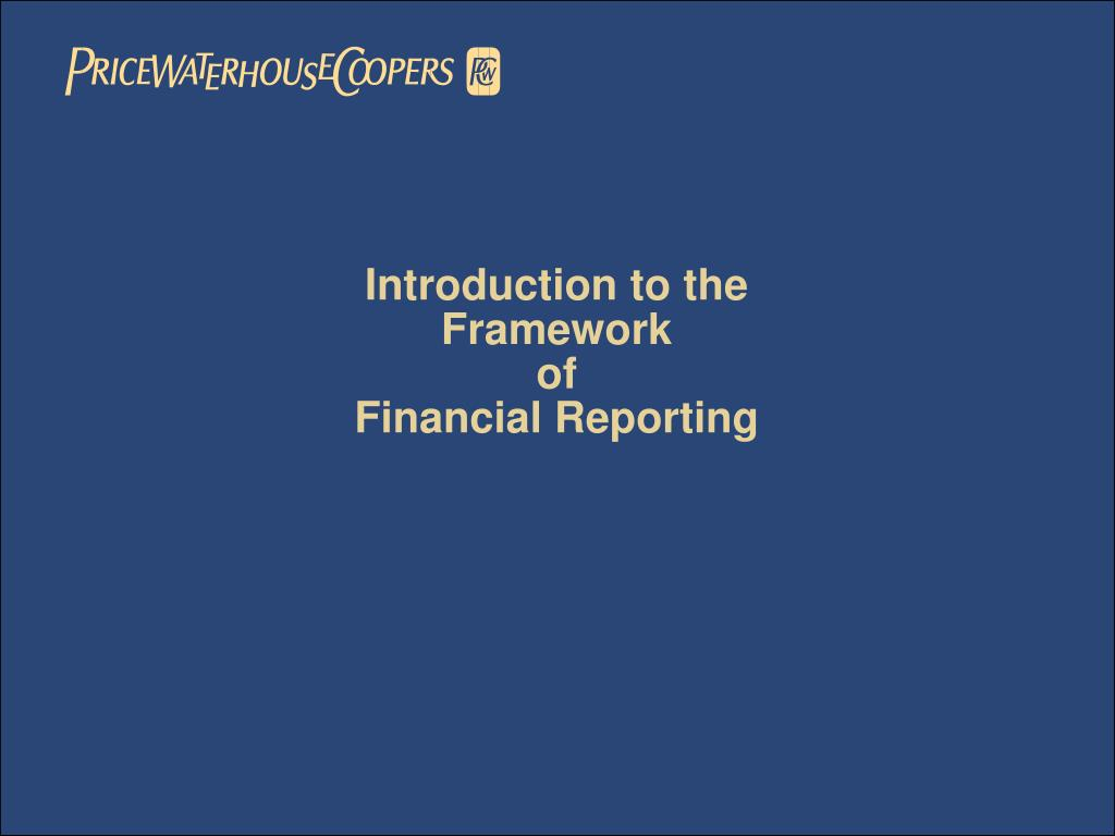 an introduction to the financial reporting Introduction to financial accounting from university of pennsylvania master the technical skills needed to analyze financial statements and disclosures for use in financial analysis, and learn how accounting standards and managerial incentives.