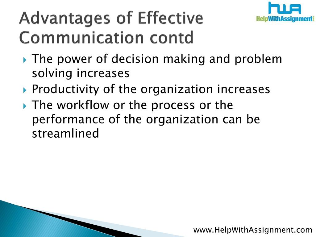 Advantages of Effective Communication