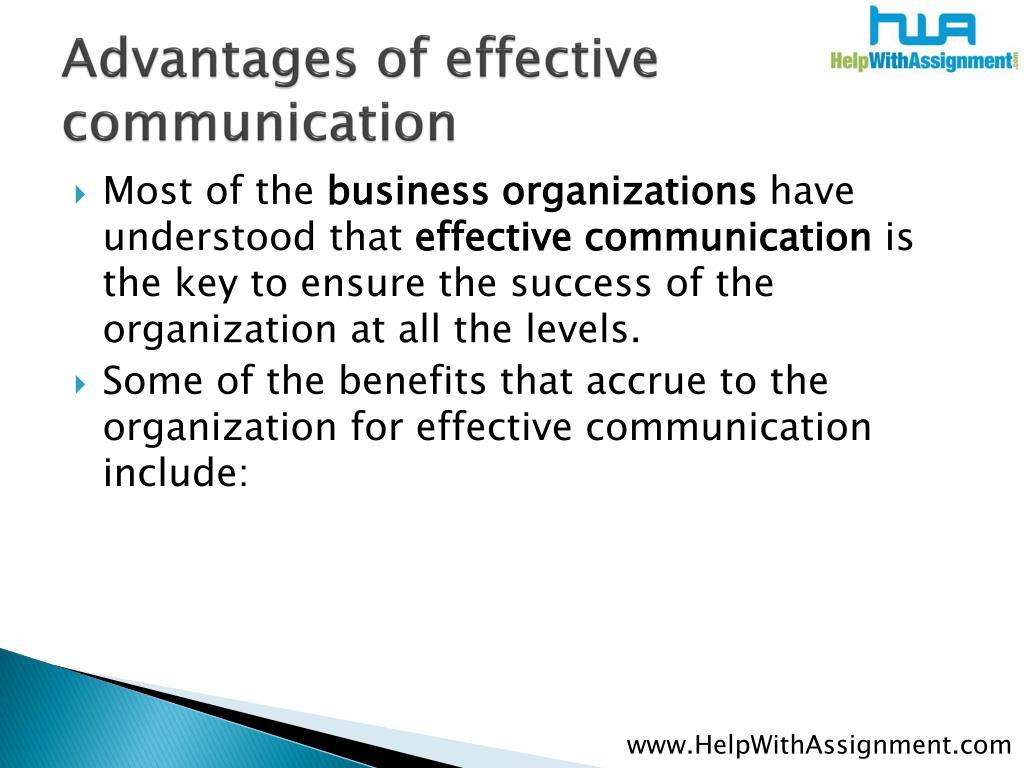 Advantages of effective