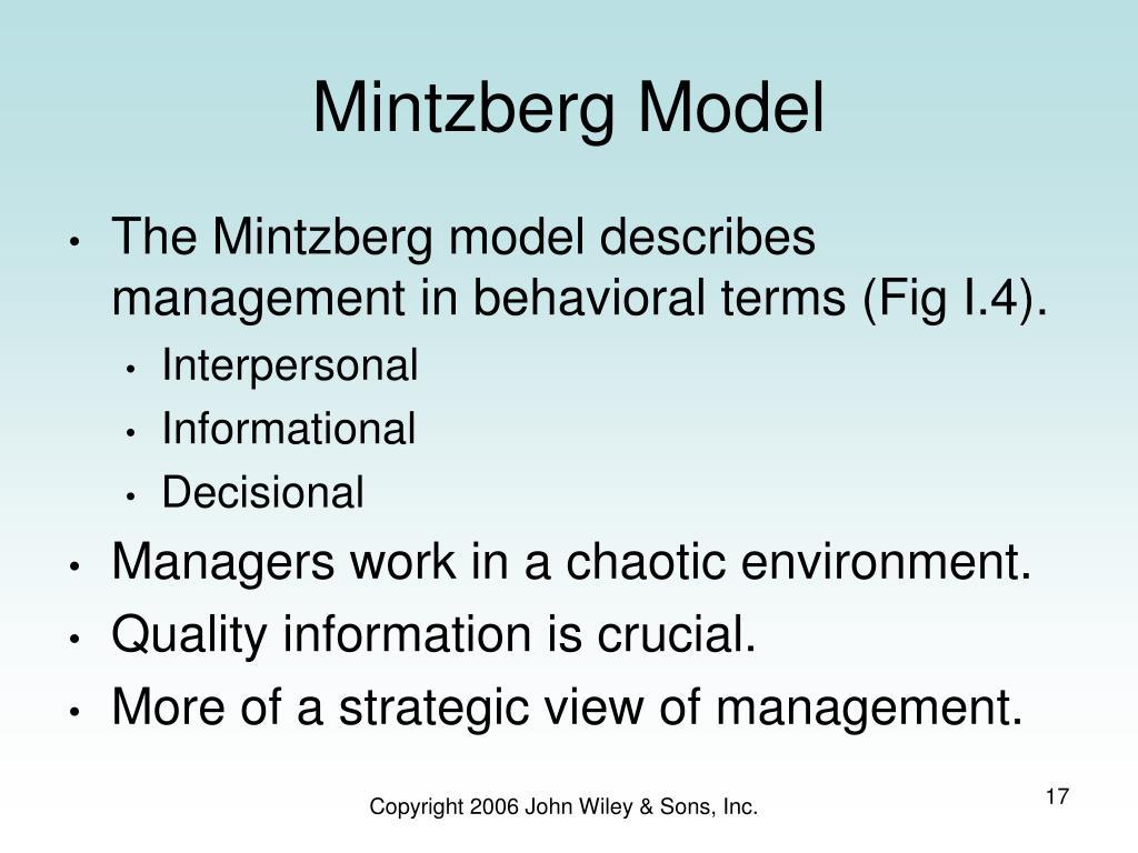 Mintzberg Model