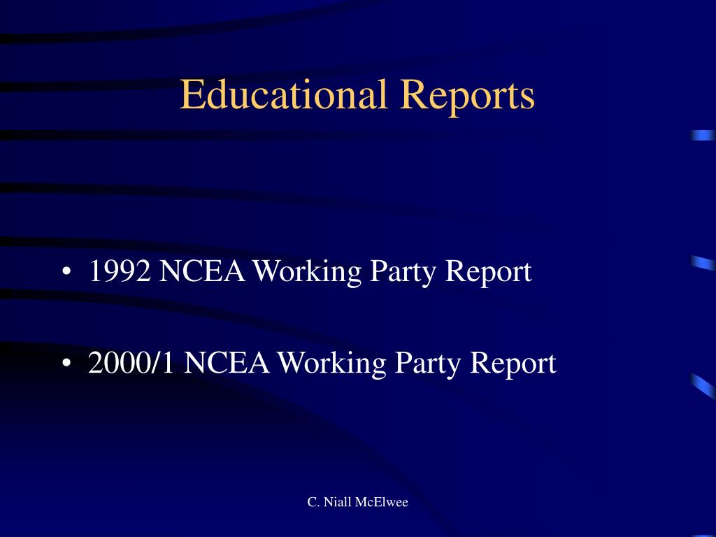 Educational Reports