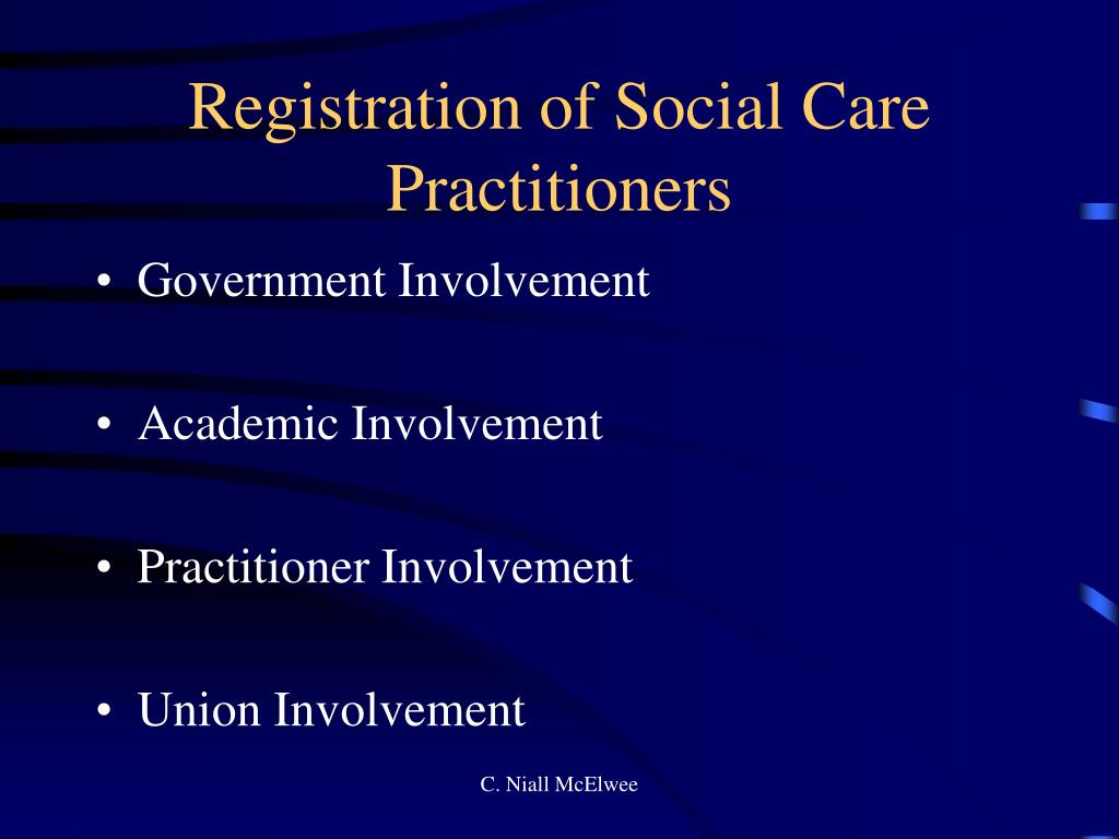 Registration of Social Care Practitioners