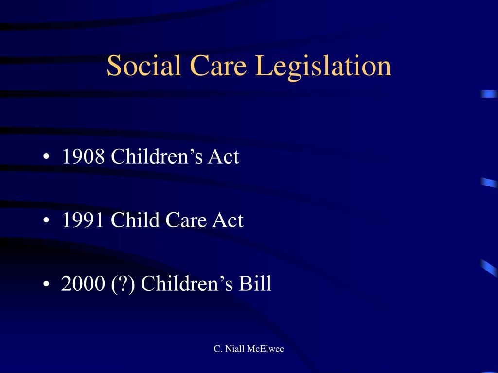 Social Care Legislation