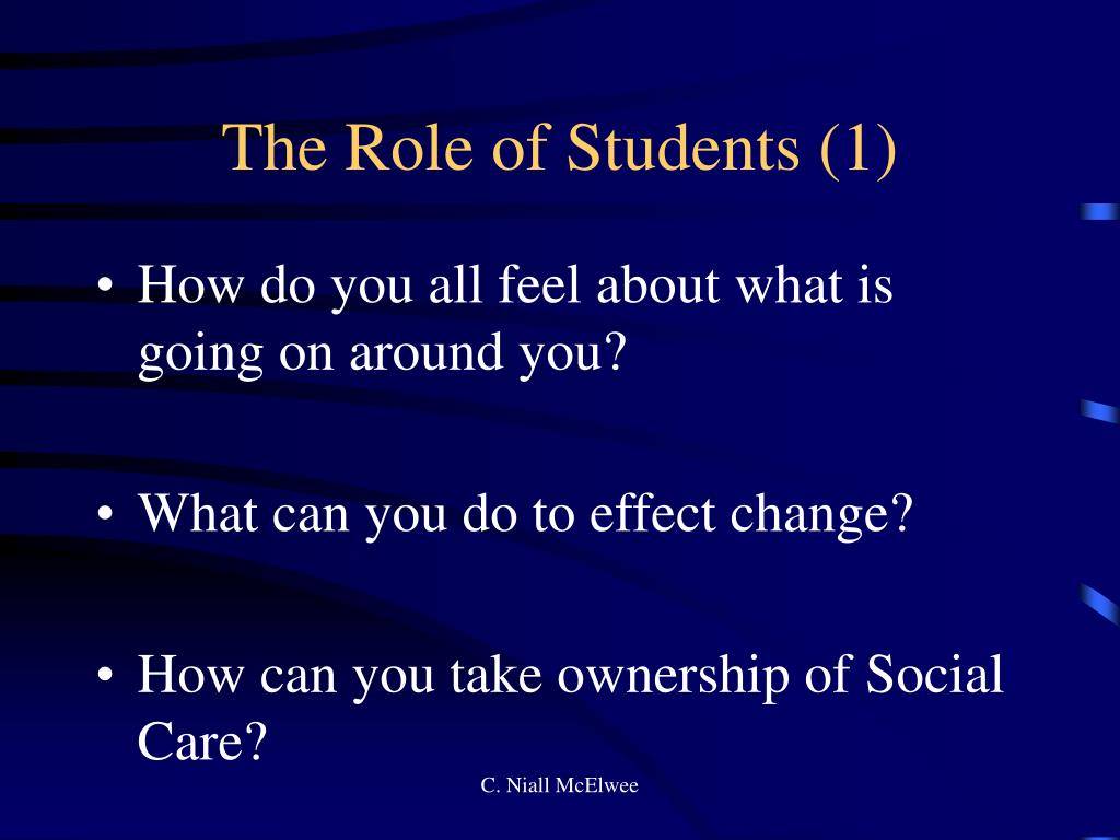 The Role of Students (1)