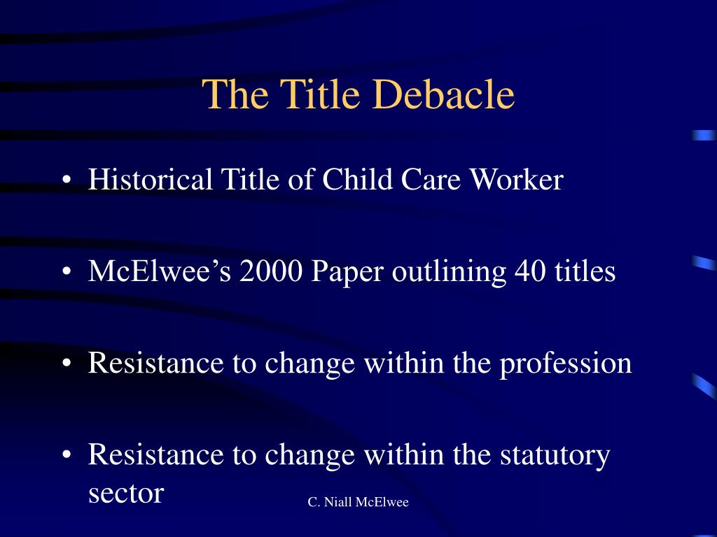 The Title Debacle