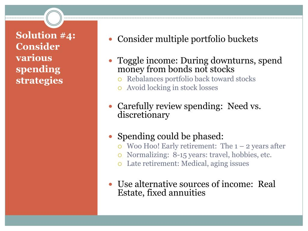 Consider multiple portfolio buckets
