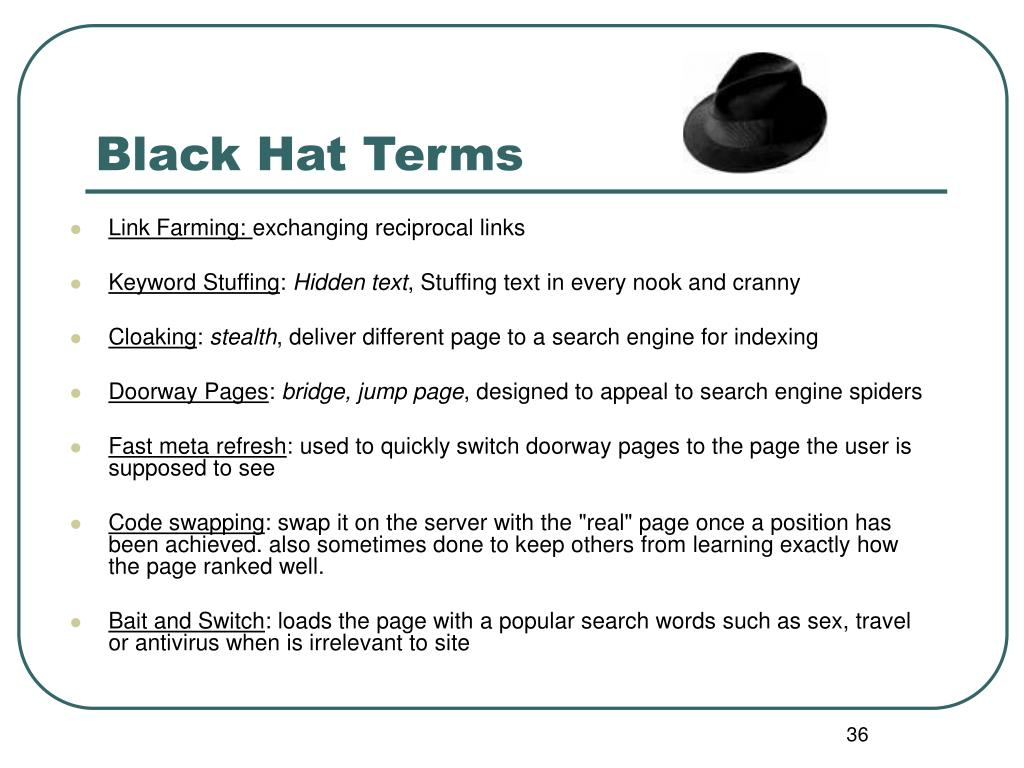 Black Hat Terms