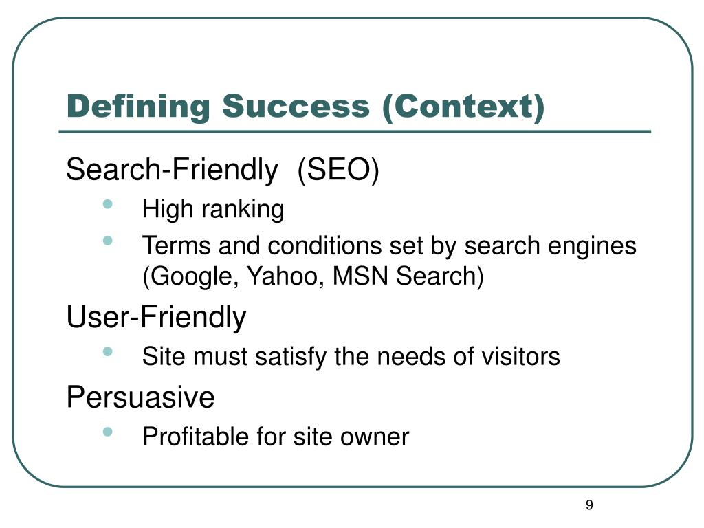 Defining Success (Context)
