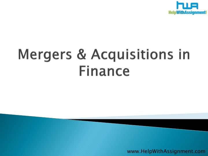 Mergers acquisitions in finance