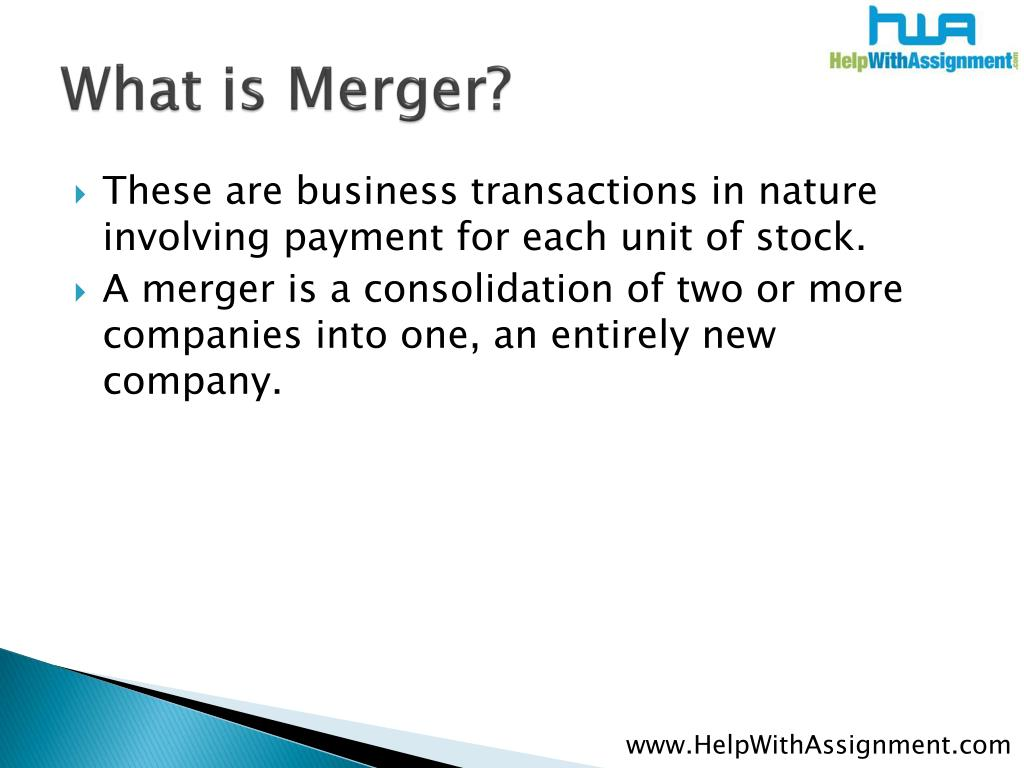 What is Merger?