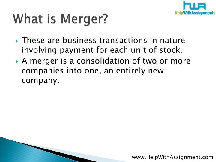 What is merger