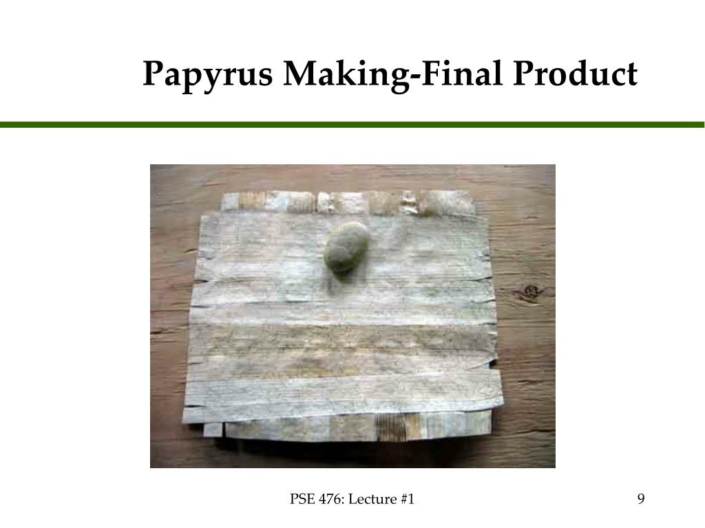 Papyrus Making-Final Product
