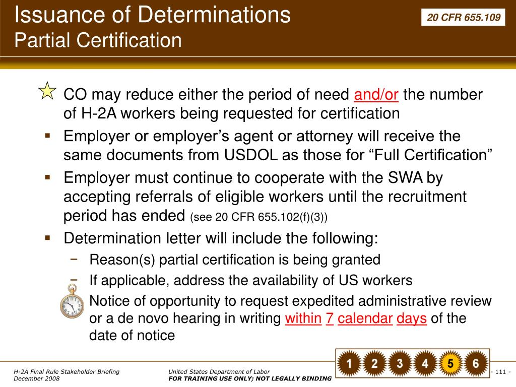Issuance of Determinations