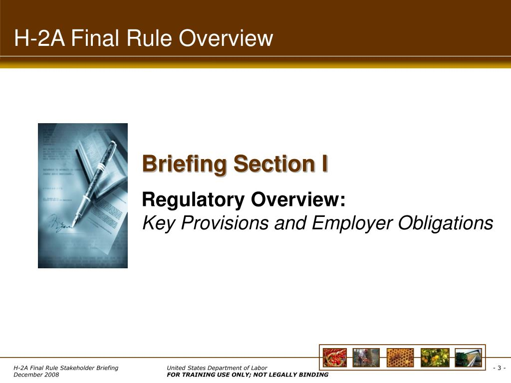 H-2A Final Rule Overview