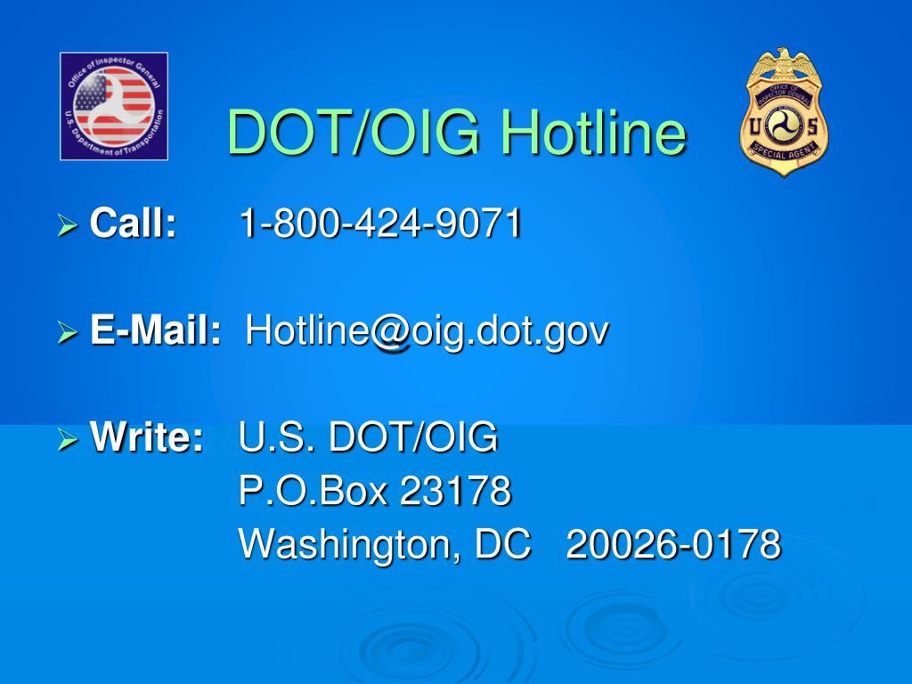 DOT/OIG Hotline