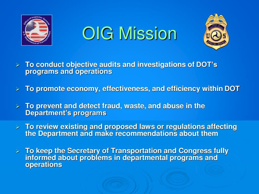 OIG Mission