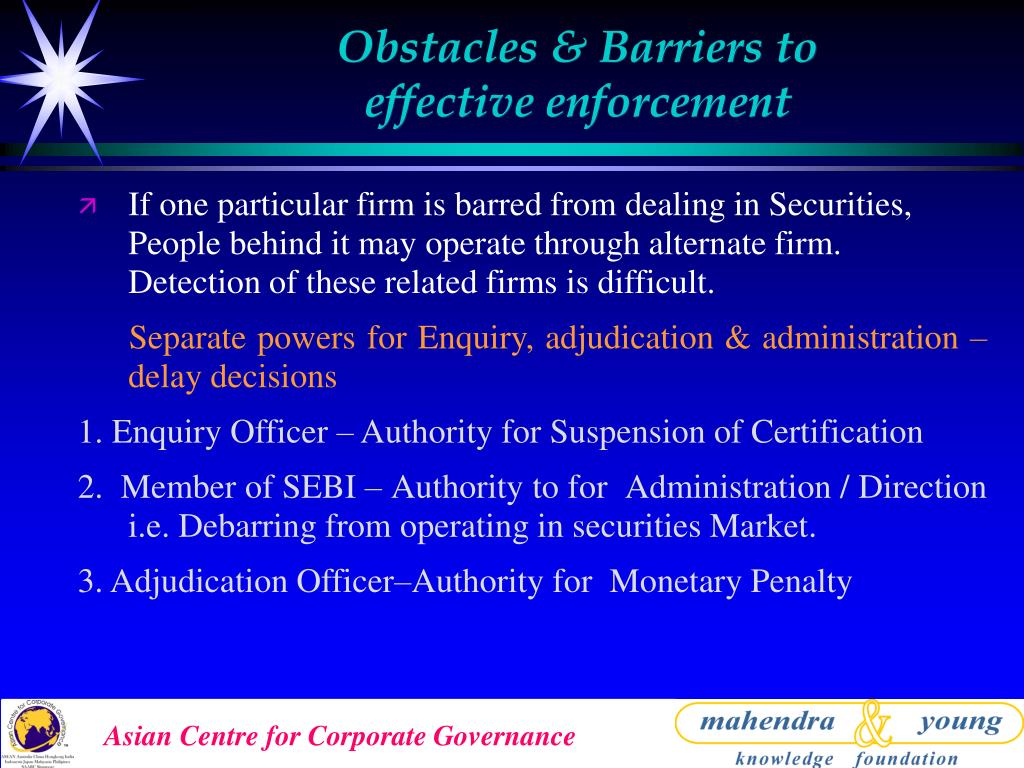 Obstacles & Barriers to