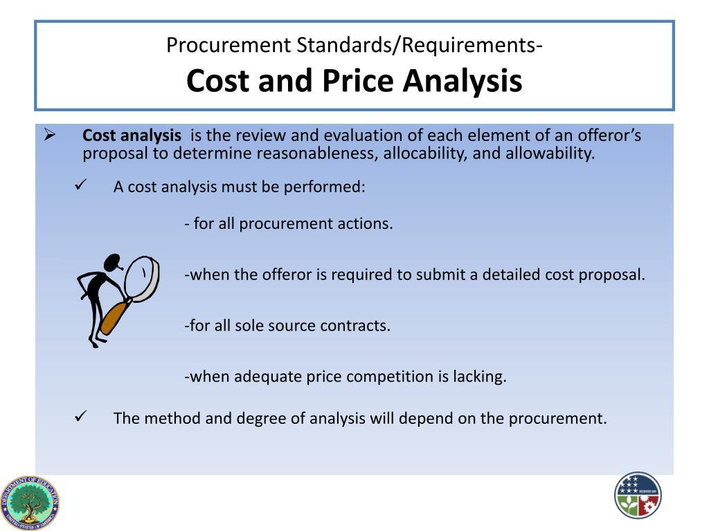 Procurement Standards/Requirements-
