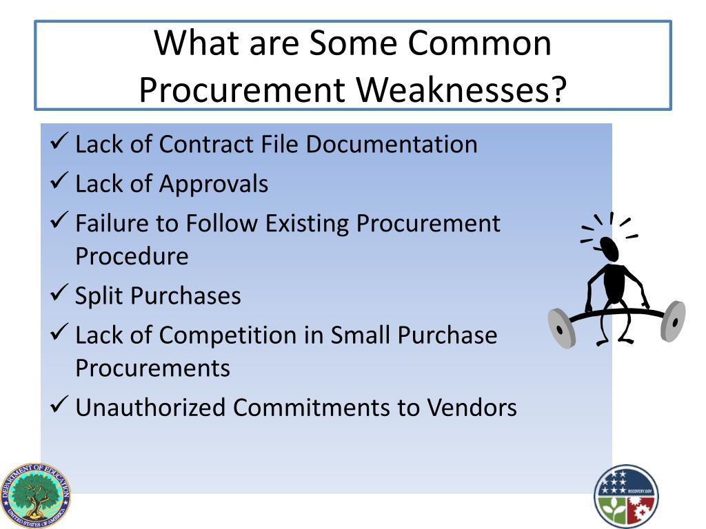 What are Some Common  Procurement Weaknesses?
