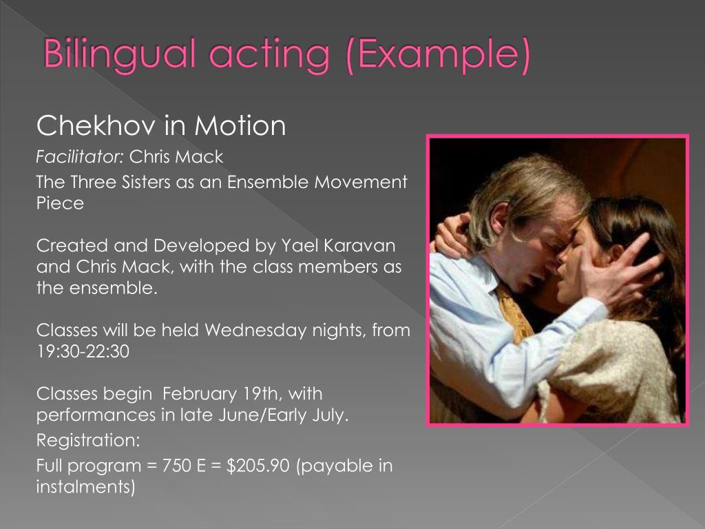 Bilingual acting (Example)