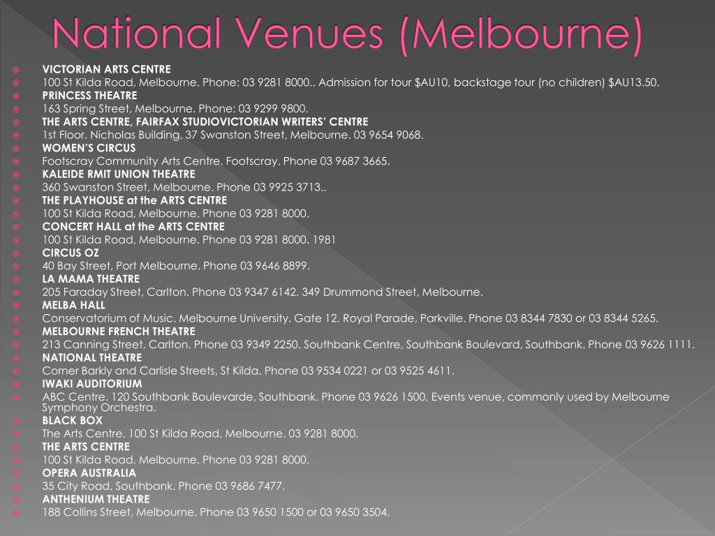 National Venues (Melbourne)