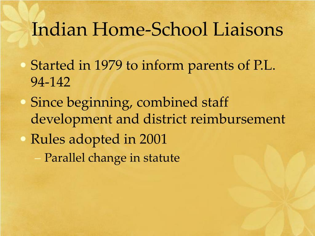 Indian Home-School Liaisons
