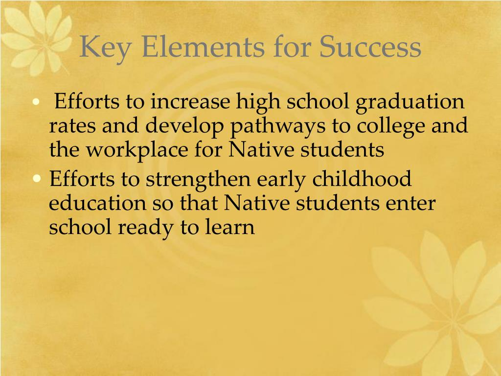 Key Elements for Success