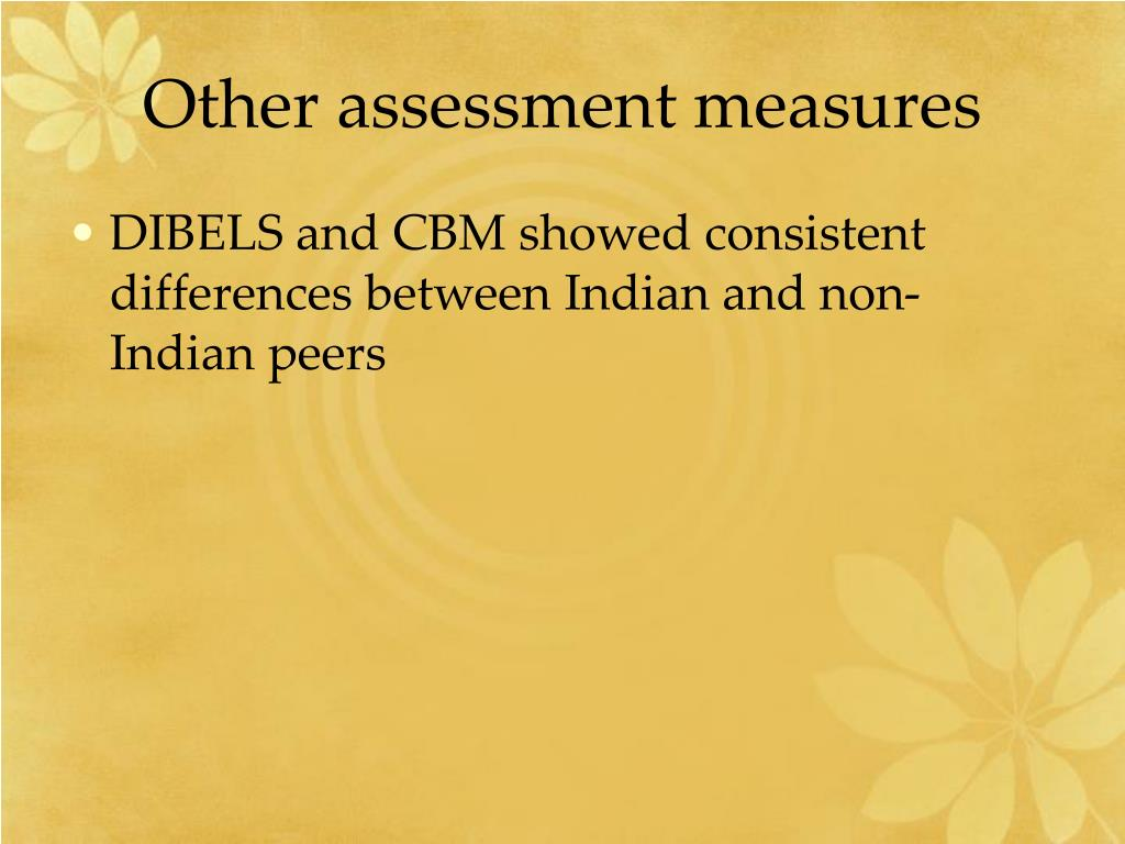Other assessment measures